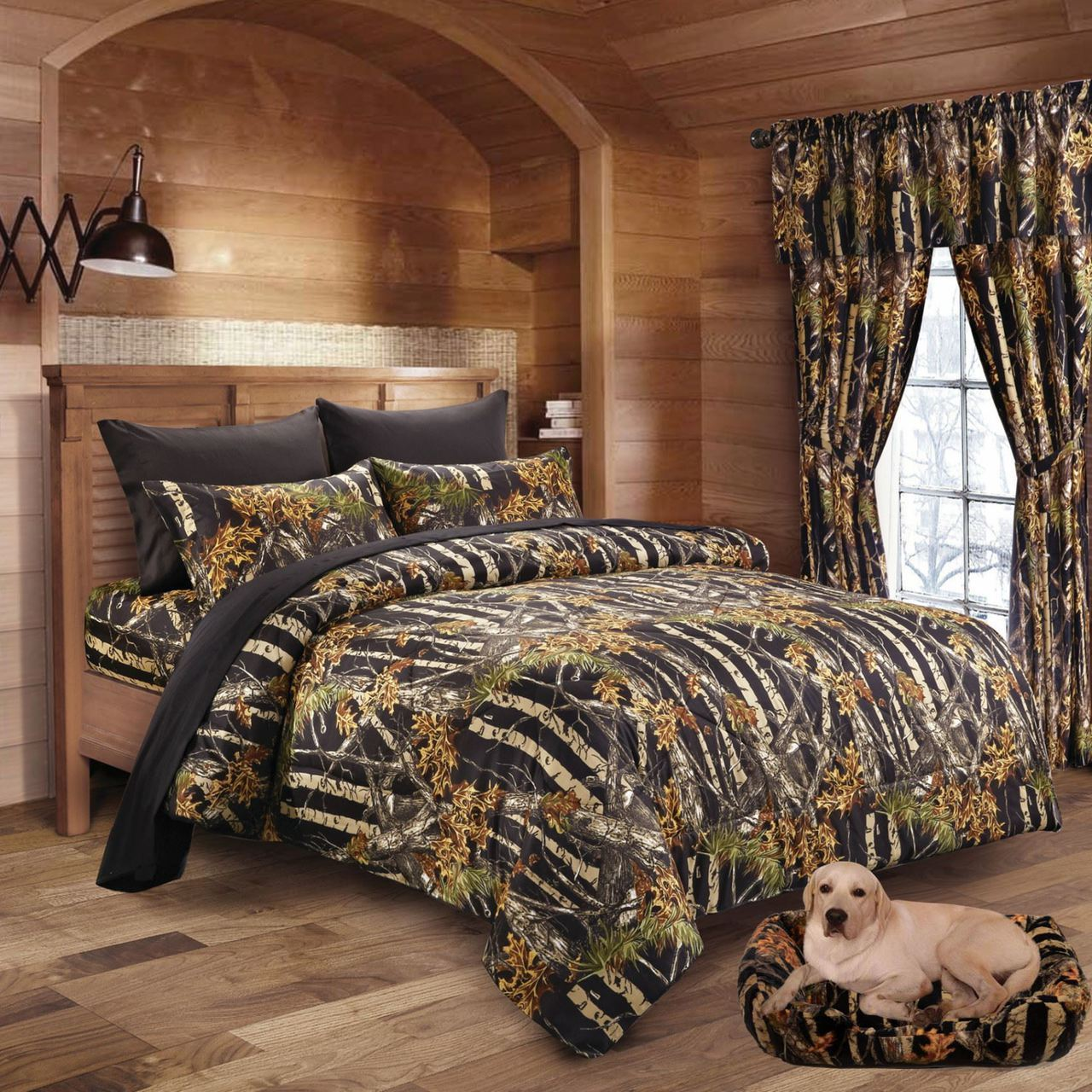6 PC REGAL COMFORT LIME CAMO SHEETS PILLOW CASES CAMOUFLAGE QUEEN NO COMFORTER