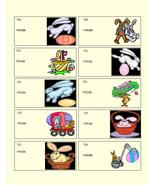 Easter To and From tag 01B-Digital Download-Cli... - $3.00