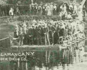 Ferry Island Park Salamanca New York Vintage 1909 Post Card