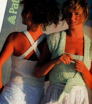 SUMMER KNITS LIGHT & LACY TOPS SEA SPRAY SLEEVELESS & SHORT SLEEVE + PAT... - $4.98