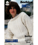 FAMILY KNITTING PATONS 471 CHUNKY SWEATERS SLIPOVER FOR MOM DAD & KIDS - $4.98