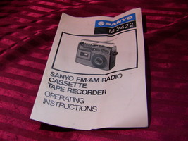 Sanyo M2422 Operating Instructions Manual Only - $8.00