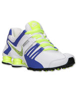 Nike shox current white volt purple black 639657-105 women running athletic shoe - $95.00