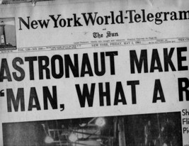 New York World-Telegram & The Sun Newspaper Friday, May 5, 1961 - $4.90