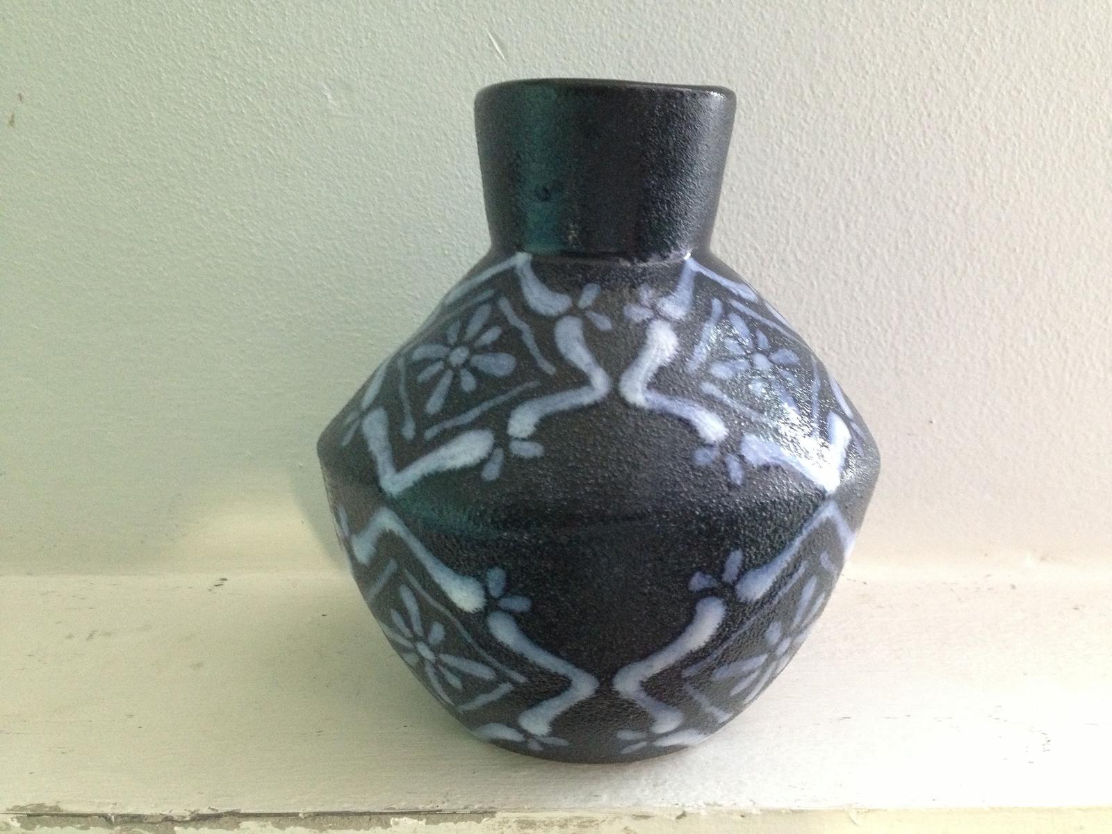 Cobalt blue vase gift glaze ceramic rustic large