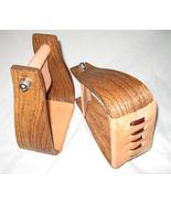 "3"" Deep Roper Stirrups Nettles saddle horse new wooden  leather  ride rope - $110.00"