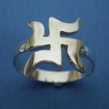 13 mm Pre History Buddha Swastika Ring - $24.00