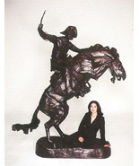 8.5 Ft H Bronco Buster, Pure Bronze Lost Wax Sculpture Statue by F. Remington He - $26,000.00