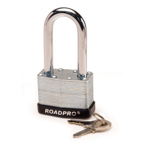 "RoadPro RPLS-50L 50mm Laminated Steel Padlock with Bumper Guard and 2.5"" Shackle"