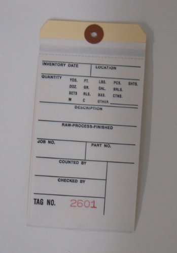 Quill 901 15105 Numbered 2 Part Inventory Tags 500 Count Box