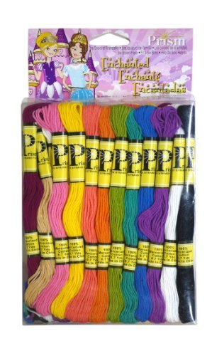 DMC PRISM-867 Prism Cotton Six Strand Floss Craft Thread, Pastel, 36/Pack