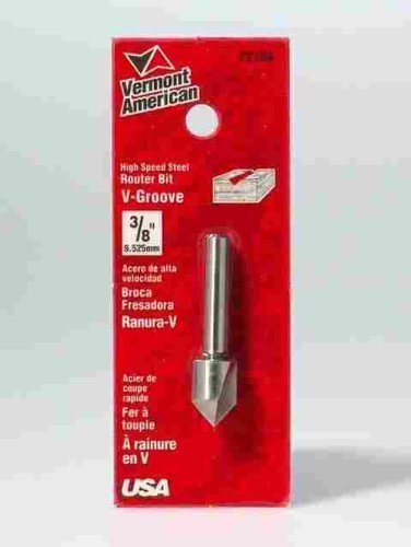 Vermont American 22104 3/8-Inch HSS V-Groove Router Bit