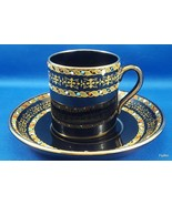 Antique Gibson Sons Italian Border Demitasse Cup Saucer Enameled Dots on... - $35.64