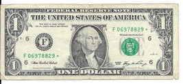 2006 One Dollar Star Note * Circulated (F06978829*) - $2.25