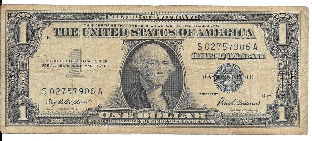 1957 One Dollar Silver Certificate And Similar Items