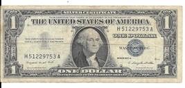 1957A One Dollar Silver Certificate - Cerculated (H51229753A) - $3.00