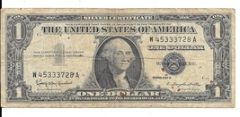 1957b One Dollar Silver Certificate - Cerculated (W45333728A) - $3.00