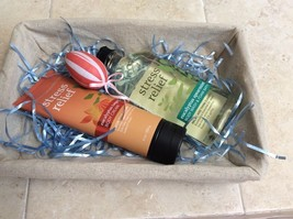 Bath Body Works Set,Stress Relief Eucalyptus Wash +Cream Tangerine, Free Basket. - $25.00