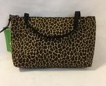 Giraffe Vegas Mini Tote Purse Handmade Fabric Handbag Make Up Bag Animal Print