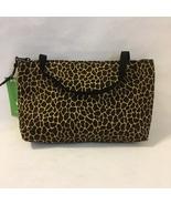 Giraffe Vegas Mini Tote Purse Handmade Fabric Handbag Make Up Bag Animal Print - $40.00