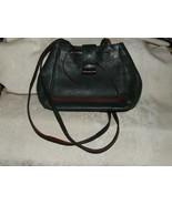 Vintage Carla Marchi Italian Green Leather Shoulder Bag Handbag Purse Br... - $135.00