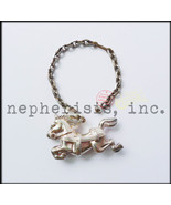 RARE Vintage Hermes CAROUSEL ROCKING HORSE Sterling Silver Keychain or B... - $650.00