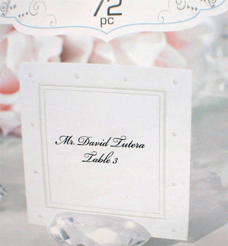 72 David Tutera Printable Escort Cards Place Seating Swiss Dot 2.5 x 2.5 inches