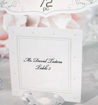 72 David Tutera Printable Escort Cards Place Seating Swiss Dot 2.5 x 2.5... - $3.47