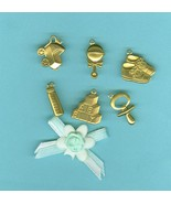 Welcome Little One Charms Rubber Stamp Bows Baby Craft  Decoration 63 It... - $9.99
