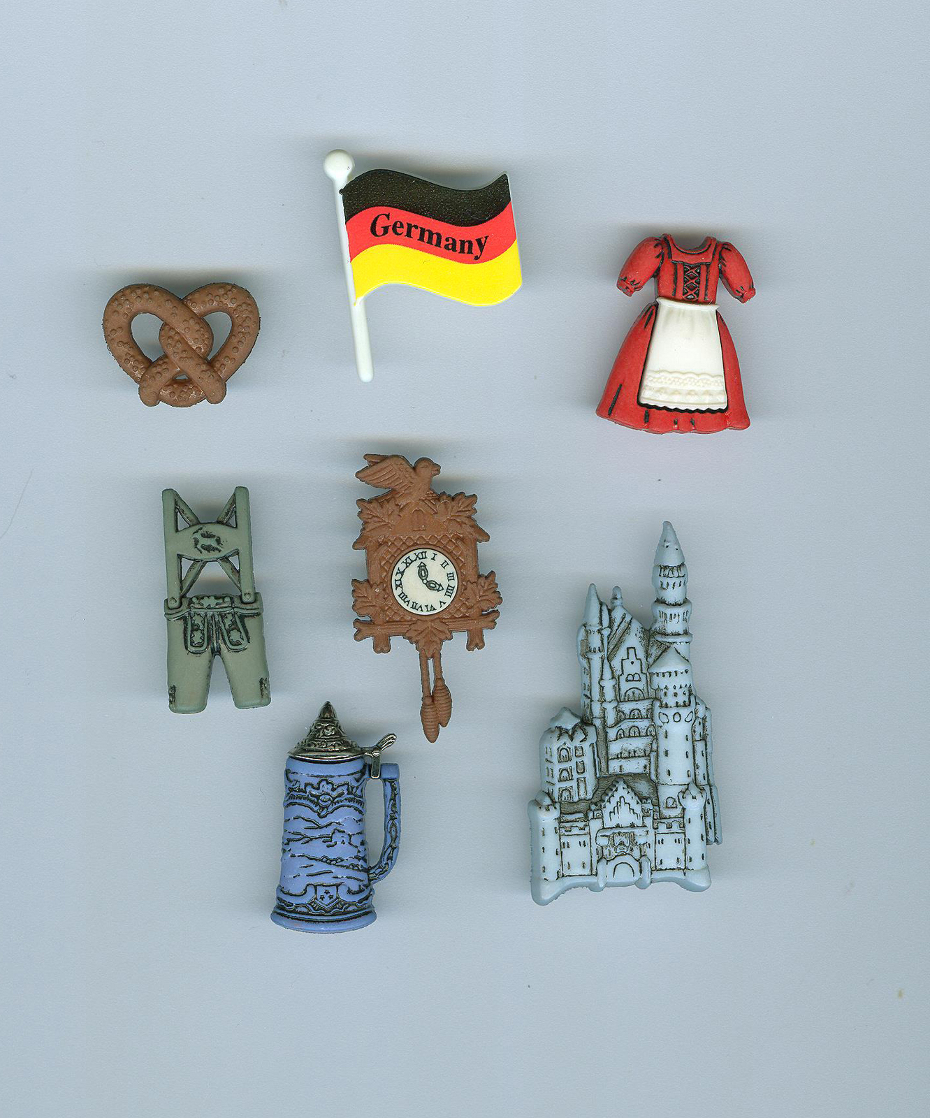 Destination germany buttons card making memory box for Craft supplies for card making