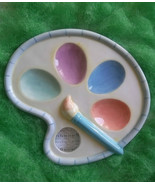 "COTTON TALE COLLECTION PALETTE EGG PLATE / 7"" DIAMETER  NEW w/ TAG - $10.00"