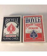 Lot of 2 NEW Vtg Hoyle Official Poker Playing Cards & Bicycle Rider Back... - $10.88