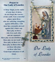 Lourdes - White Rosary - Holy Card - Prayer Booklet - prl-lourdes