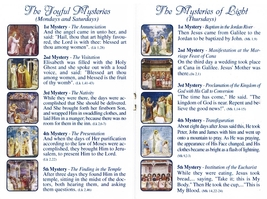 Lourdes - White Rosary - Holy Card - Prayer Booklet - prl-lourdes image 3