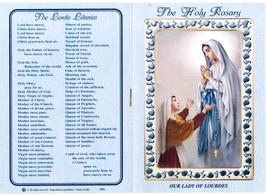 Lourdes - White Rosary - Holy Card - Prayer Booklet - prl-lourdes image 5
