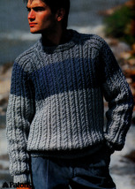 KNIT MEN WOMEN PATONS 472 CHUNKY CHOICE - SWEATERS VEST DRESSY CASUAL - $4.98