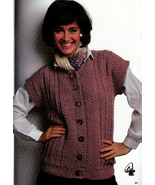 BEST VESTS EVER KNITS VOLUME 2 PATONS BEEHIVE #468 WOMEN MENS - $4.98