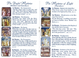St. Francis - Brown Wood Rosary - Holy Card - Rosary Prayer Booklet image 3