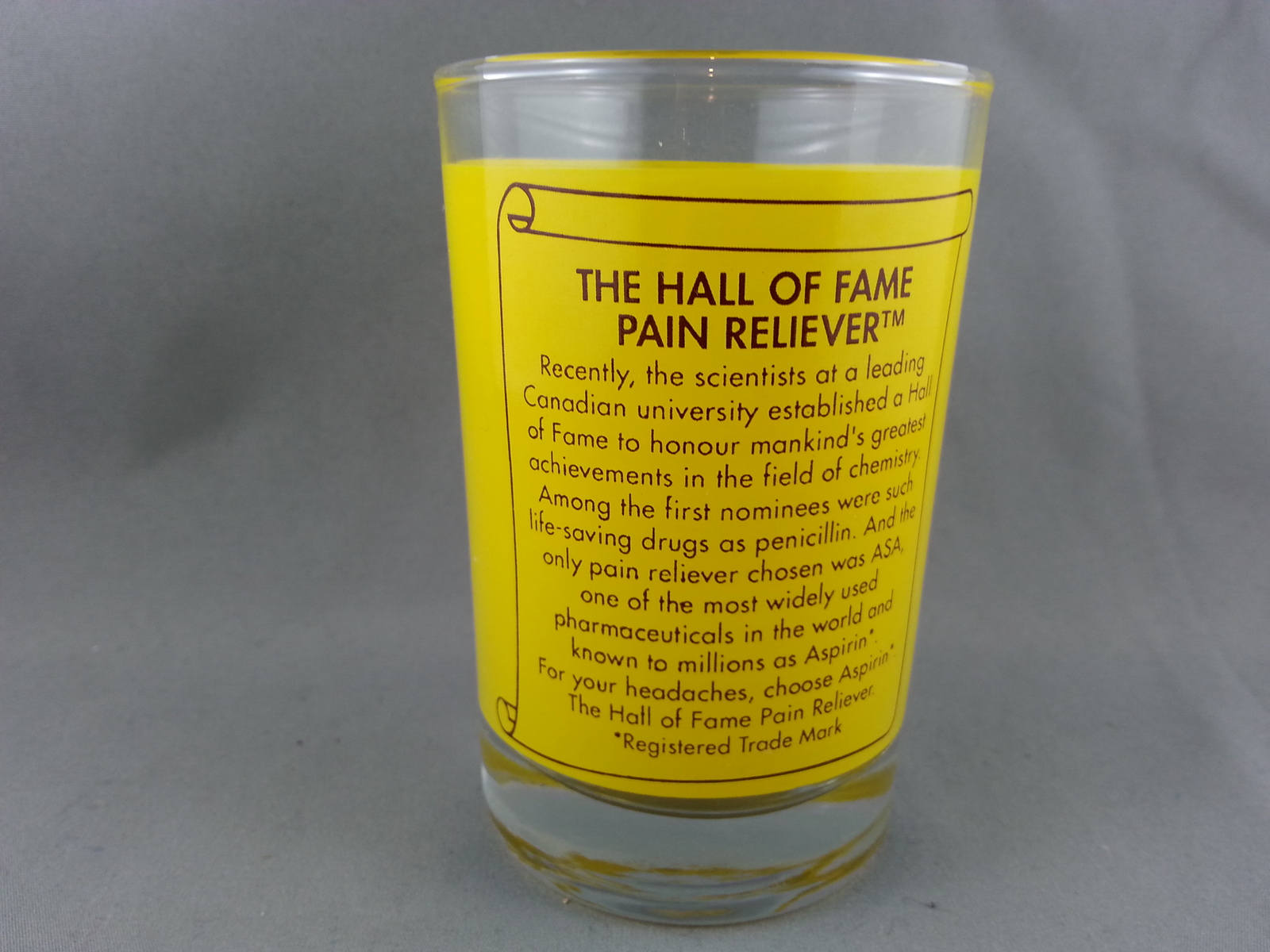 Retro Asprin Shot Glass - The hall of Fame and similar items