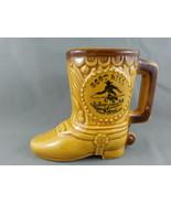 Vintage Boot Hill/ Dodge City Cowboy Boot Beer Mug - Ornate Deisgn - Ver... - $39.00