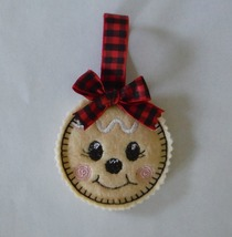 "Christmas Gingerbread Girl Cookie Ornament on felt 3"" - $3.75"