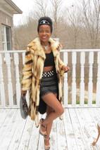 Mint Designer full length Rare light gold Fitch Fur coat jacket Stroller... - $1,999.99