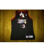 Authentic 1997-98 Champion Sixers 76ers Allen Iverson Black Road Away Je... - $349.99