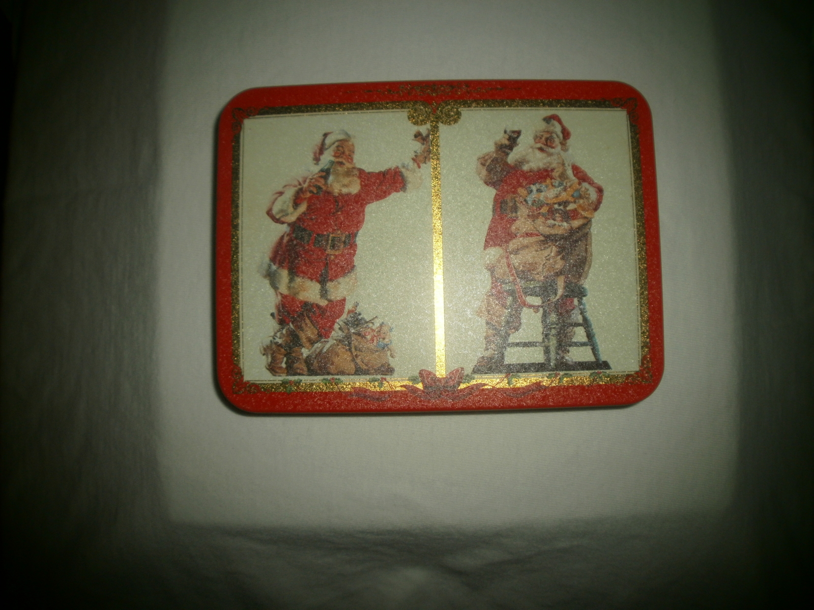 1994 Coca Cola Christmas Playing Cards in Tin