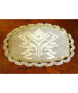 Ornate White Lily Bloom - Filet Crochet Image A... - $25.00