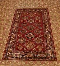 Wool Carpet Ancient Elements Of The Decorative Art 5' x 9' Super Kazak Rug - $1,297.72