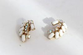 Vintage Rhinestone Clip Earrings - $13.86