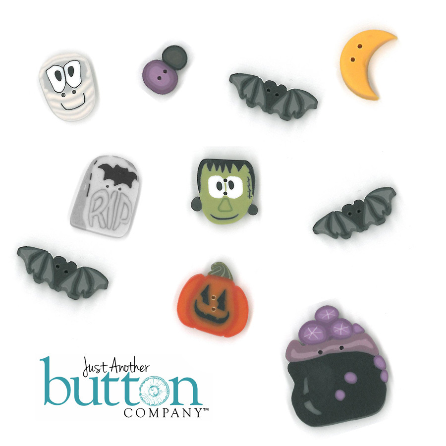 BUTTON PACK for Trick or Treat cross stitch chart Praiseworthy Stitches - $18.50