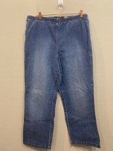 Denim & Co. How Timeless Regular Boot Cut Jeans w/ Back Pockets A1119 Bl... - $21.45