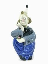 Porcelain Sitting Clown Figurine Porcelana De Cuernavaca Made In Mexico ... - $25.73